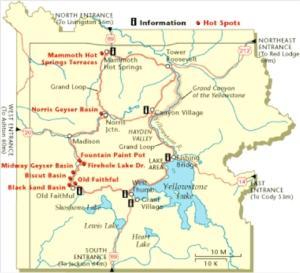 Yellowstone-map