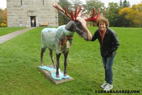 Mamãe, o moose e o Monumento da Batalha de Bennington