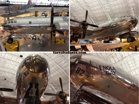 Enola Gay, o avião que jogou a bomba atômica em Hiroshima - Air and Space Museum em Chantilly