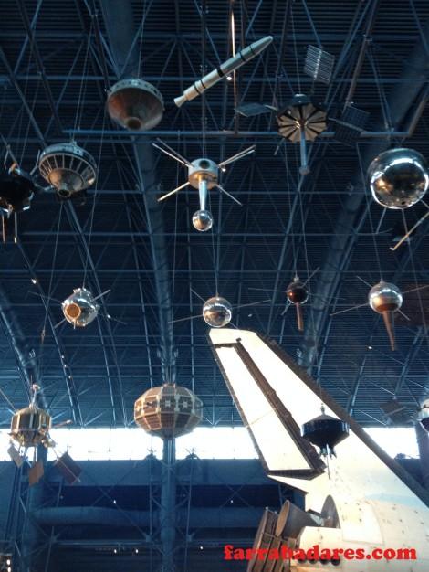 Satélites espaciais - Air and Space Museum em Chantilly