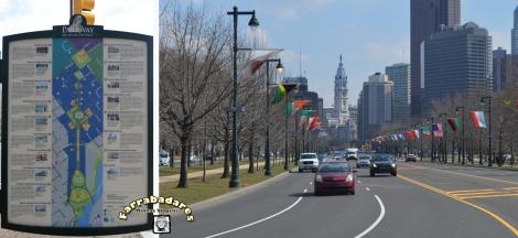 Philadelphia, Ben Franklin Parkway - ao fundo é o City Hall