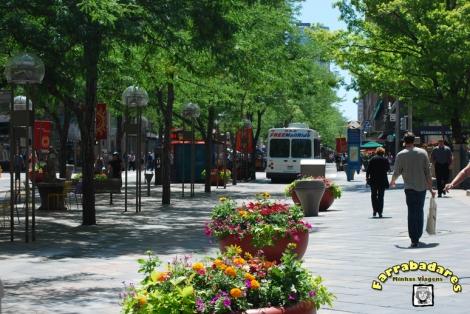 Denver - 16th Street Mall e seu free shuttle