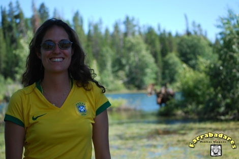 Grand Teton National Park - eu e o moose ao fundo