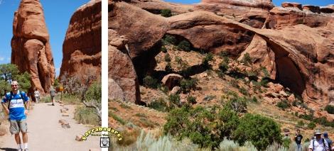 Arches National Park - trilha para o  Landscape Arch e o próprio arco